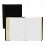 Wilson Jones WLJ 039511 039611 minute book, time book, black, 11 x8 1/2,