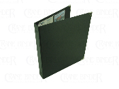 business card binder 3 ring cloth turned edge metal corners