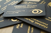 hot foil stamped cloth business cards.