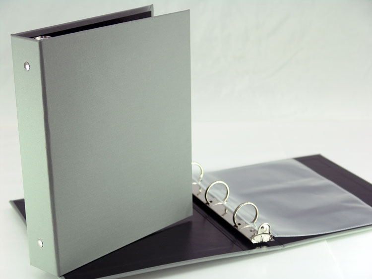 Half page sheet size turned edge 3 ring binder. Family recipe cookbook.